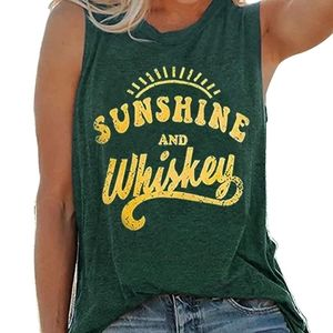 SALE! New Sunshine & Whiskey Graphic Tank Top
